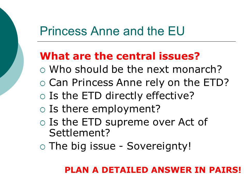 Princess Anne and the EU