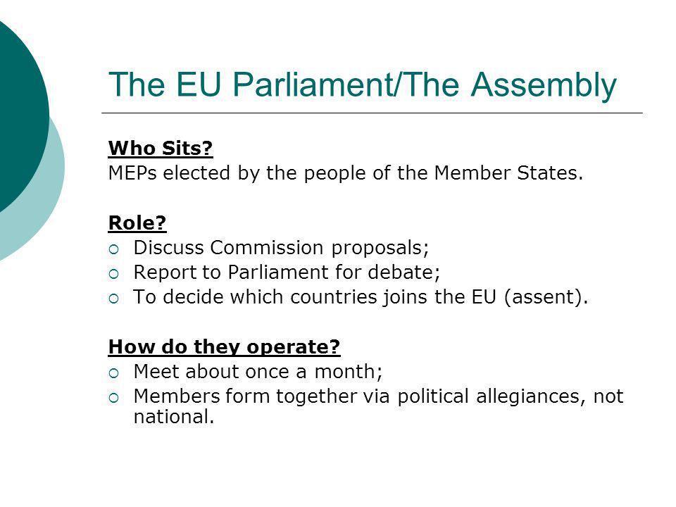 The EU Parliament/The Assembly