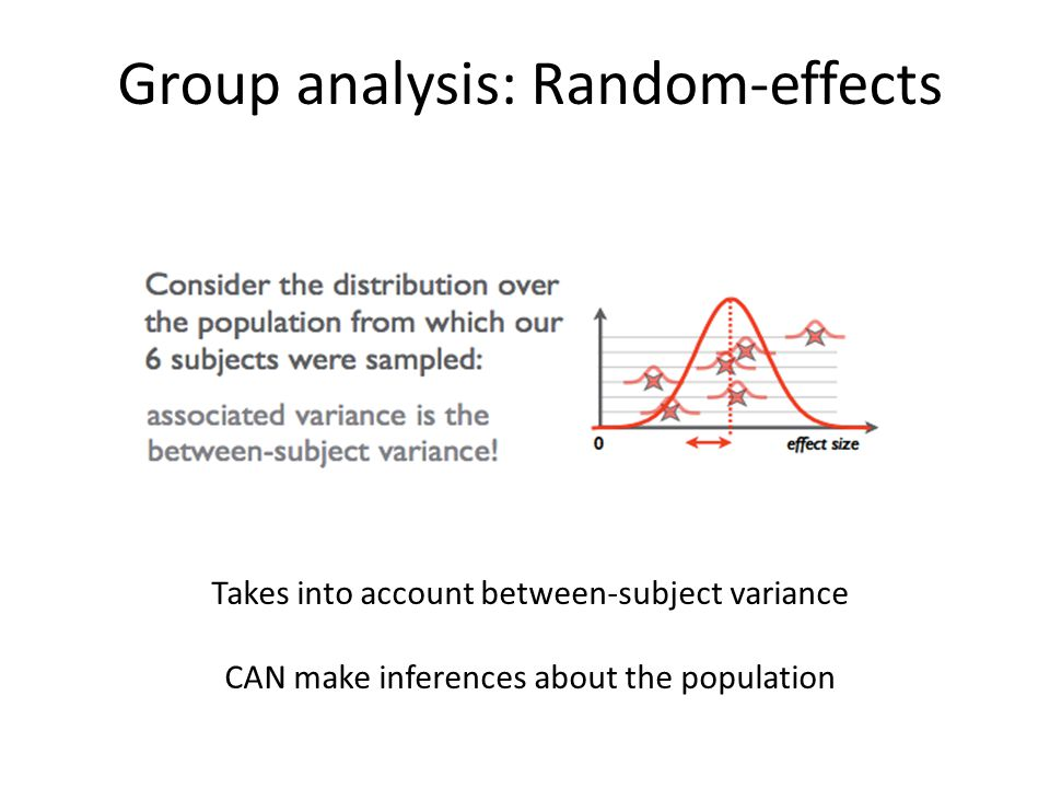 Group analysis: Random-effects
