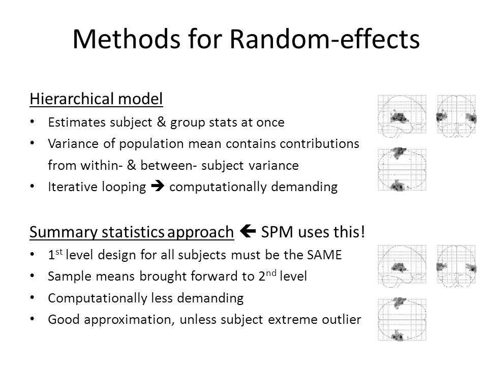 Methods for Random-effects