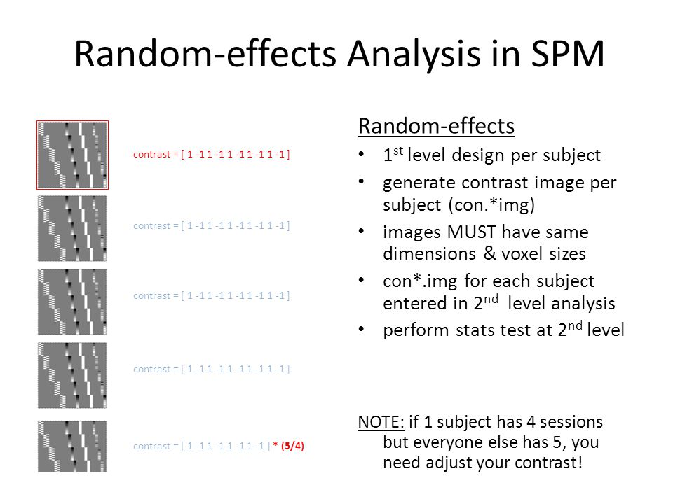 Random-effects Analysis in SPM