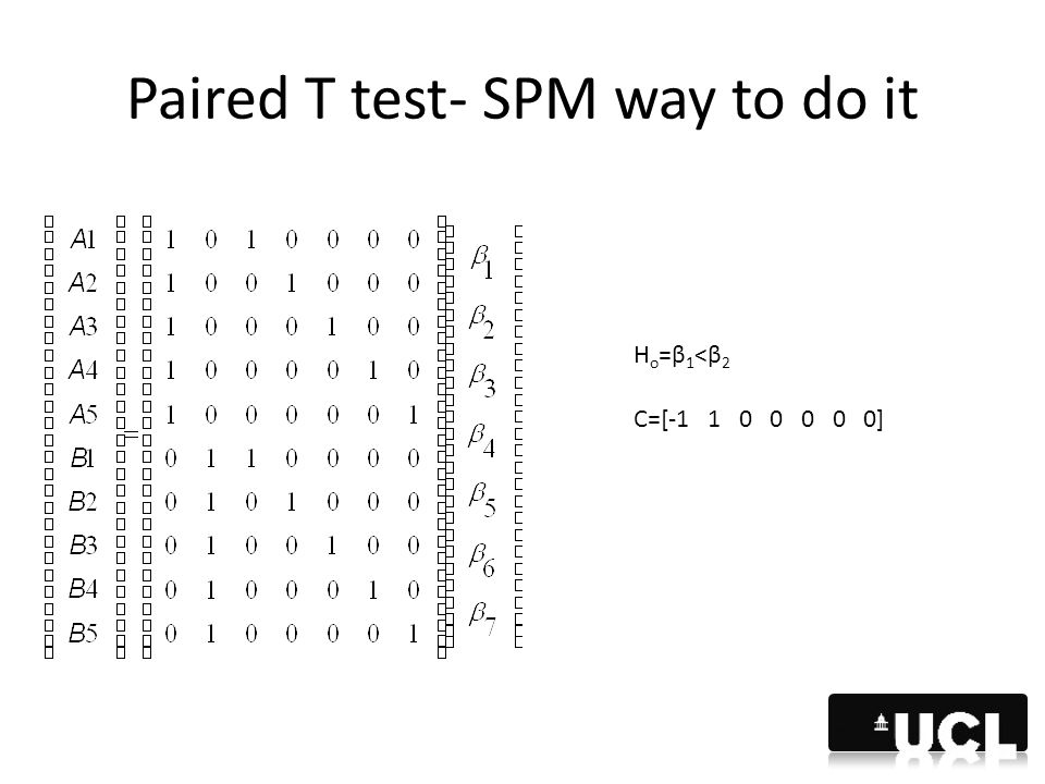 Paired T test- SPM way to do it