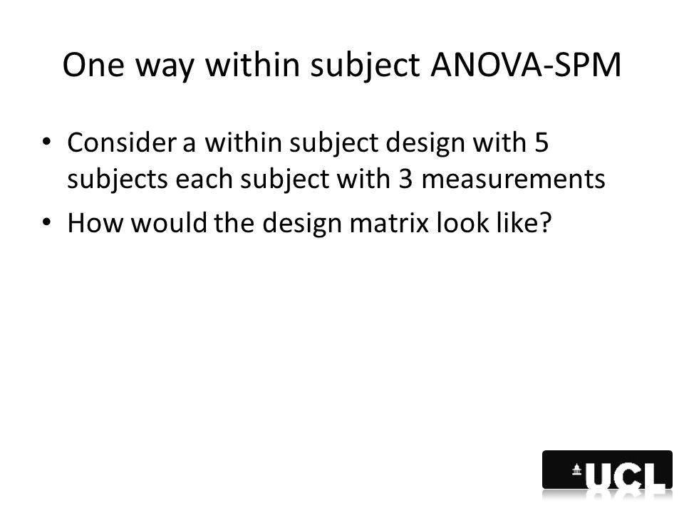 One way within subject ANOVA-SPM