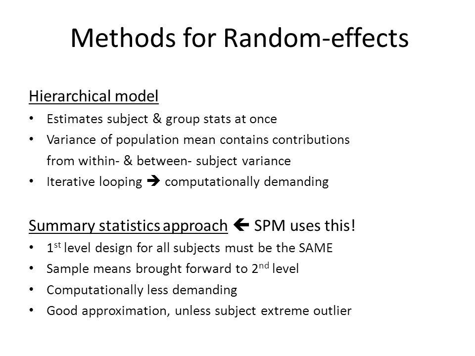 Methods for Random-effects