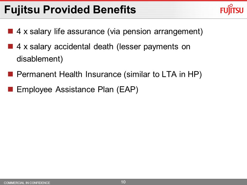 Fujitsu Provided Benefits