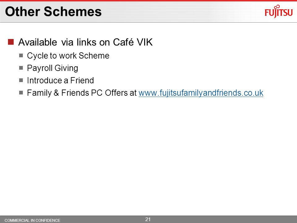 Other Schemes Available via links on Café VIK Cycle to work Scheme