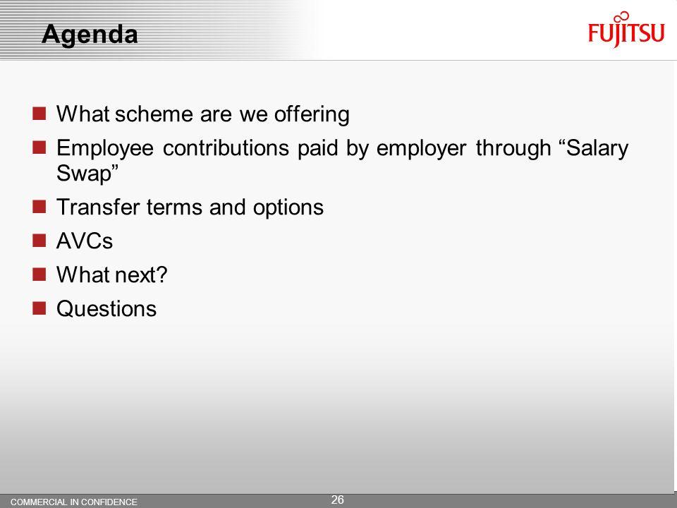 Agenda What scheme are we offering