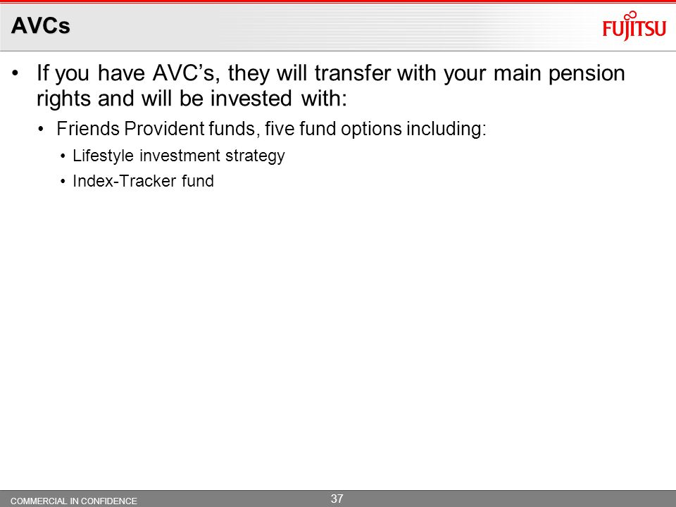 AVCs If you have AVC's, they will transfer with your main pension rights and will be invested with: