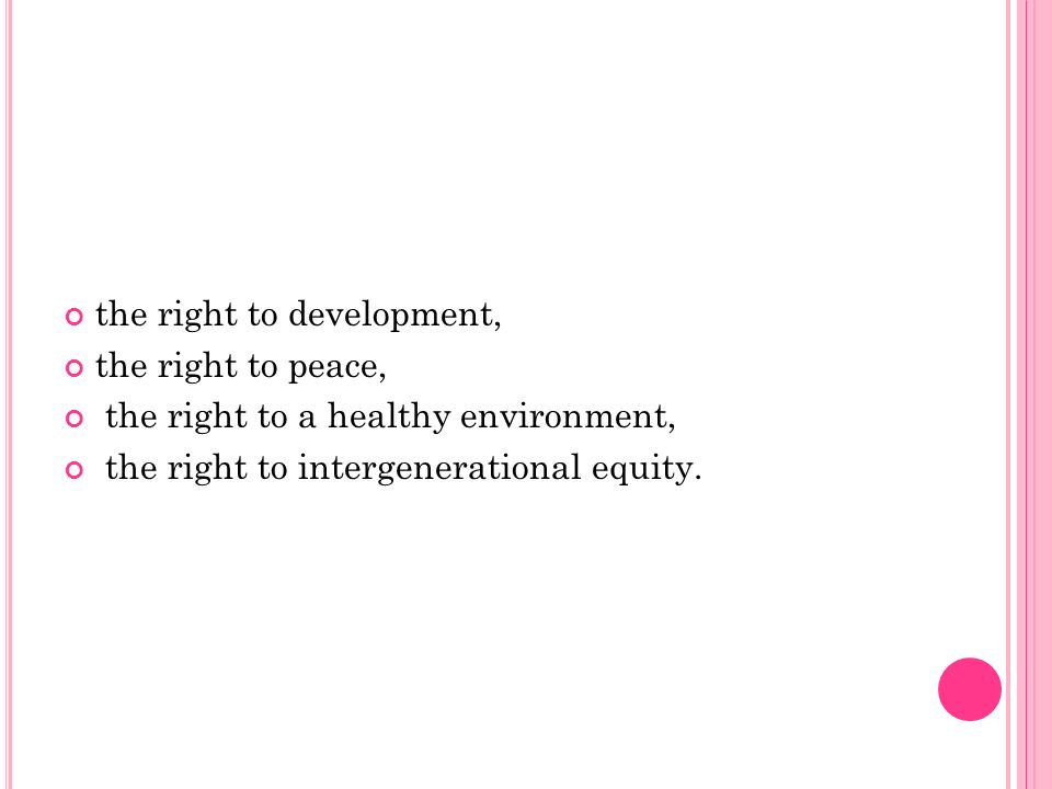 the right to development,