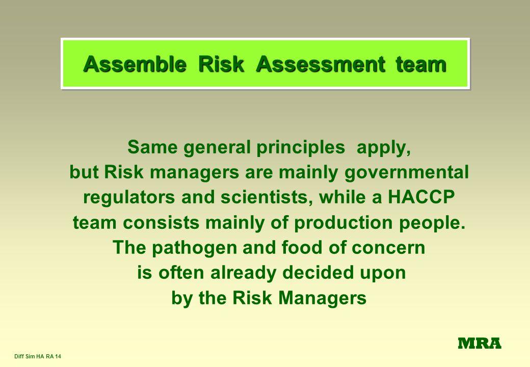 Assemble Risk Assessment team