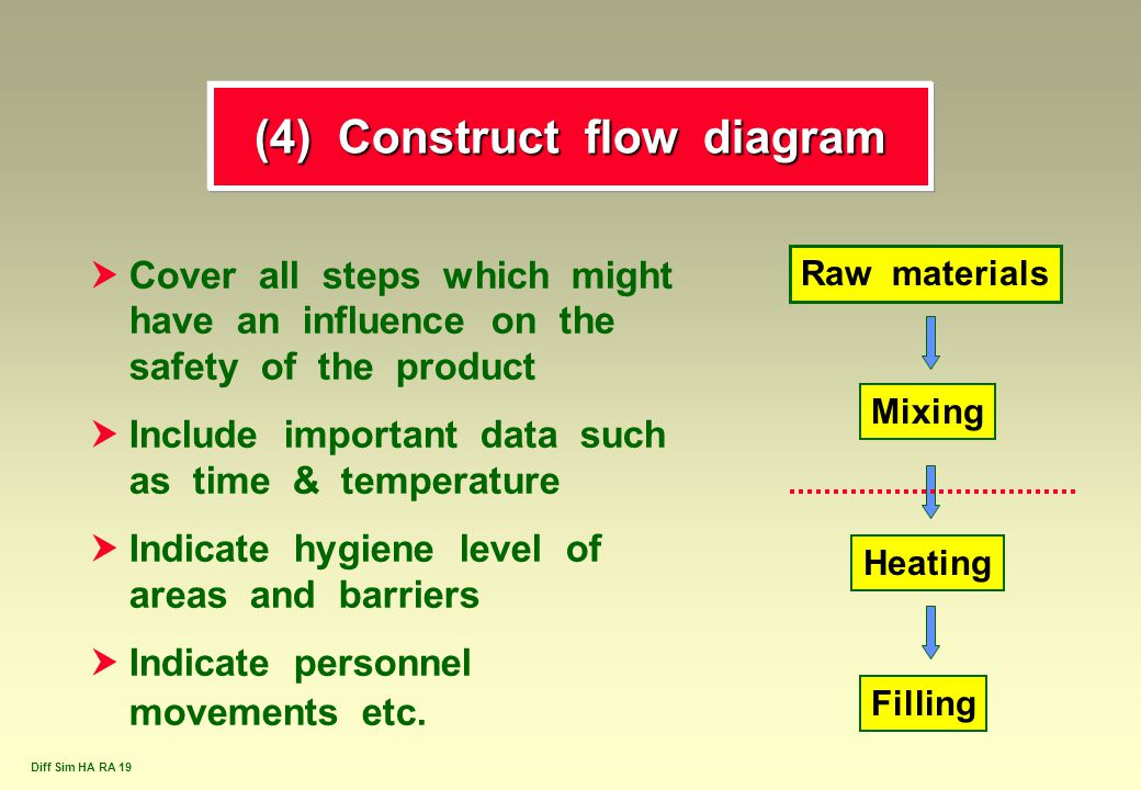 (4) Construct flow diagram