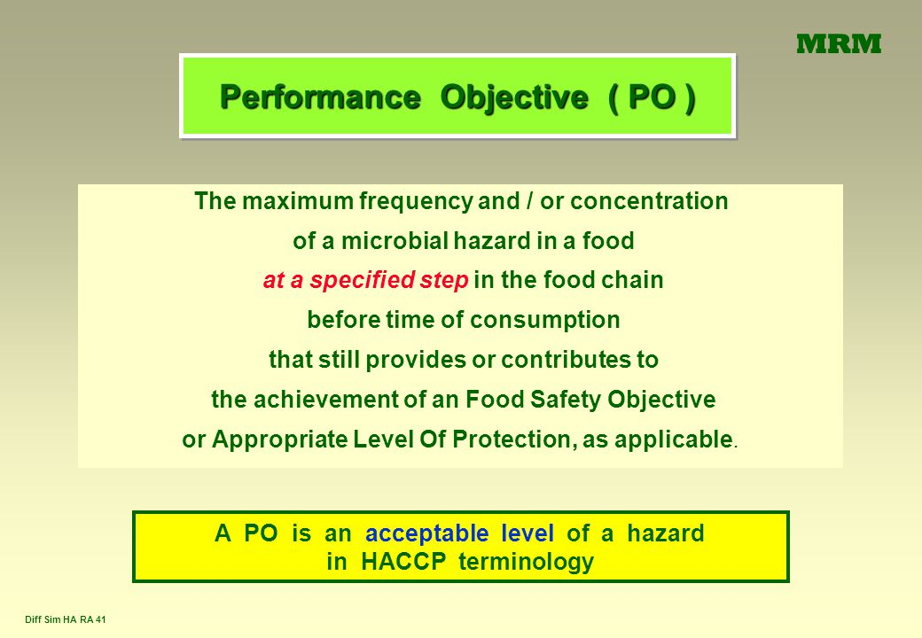 Performance Objective ( PO )