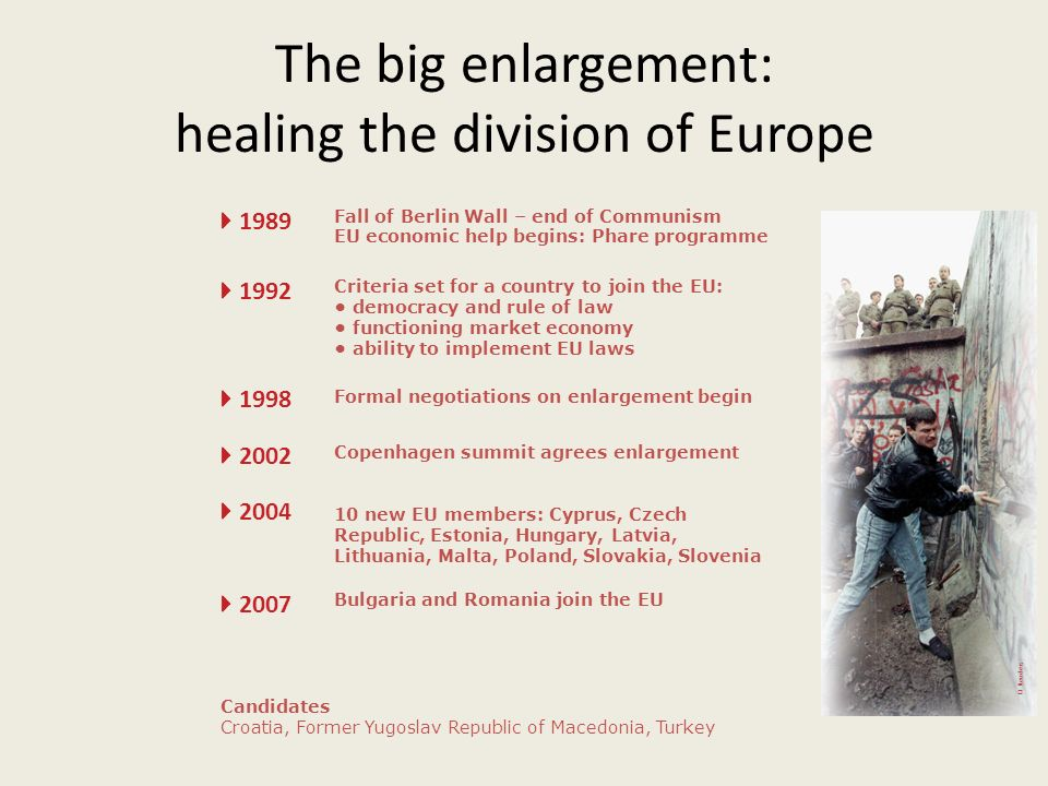 The big enlargement: healing the division of Europe