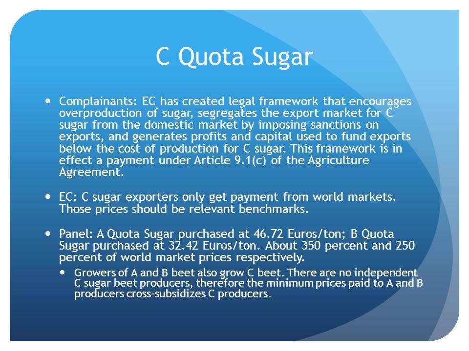 C Quota Sugar