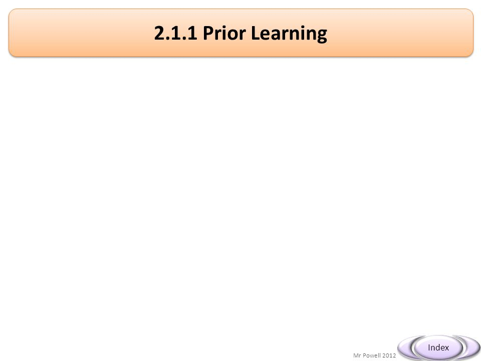2.1.1 Prior Learning