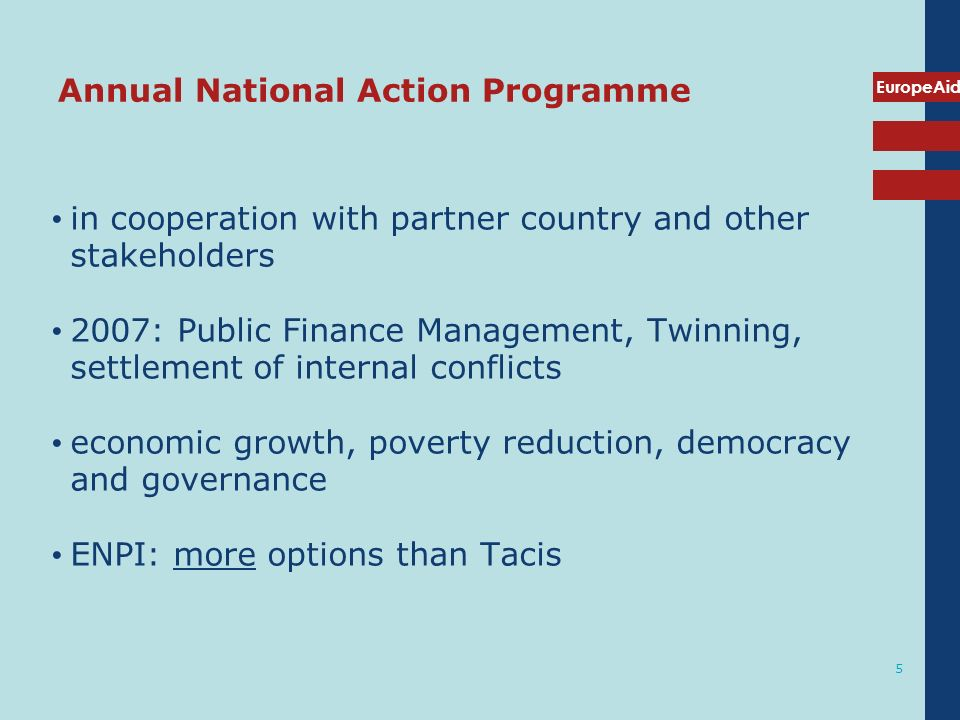 Annual National Action Programme