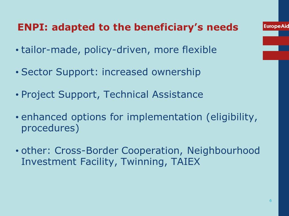 ENPI: adapted to the beneficiary's needs