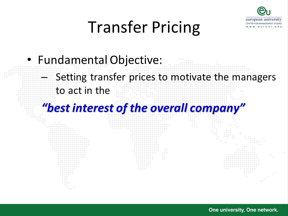 Transfer Pricing Fundamental Objective: