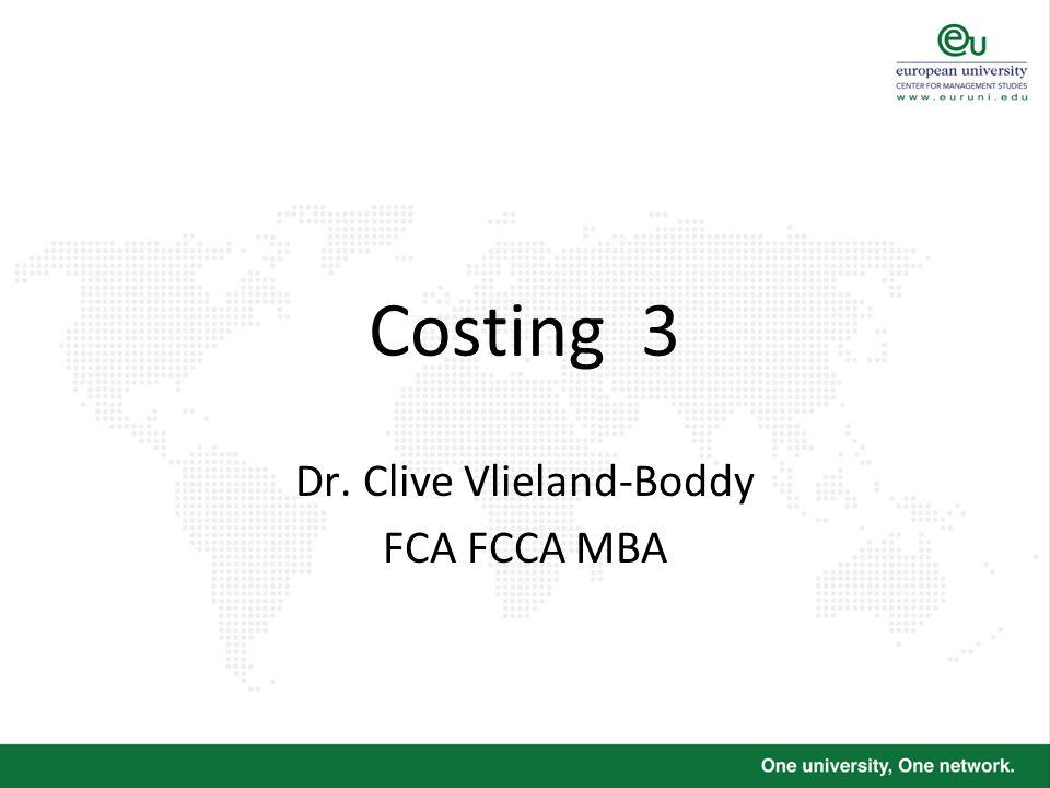 Dr. Clive Vlieland-Boddy FCA FCCA MBA
