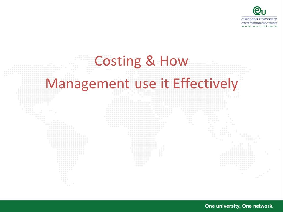 Management use it Effectively