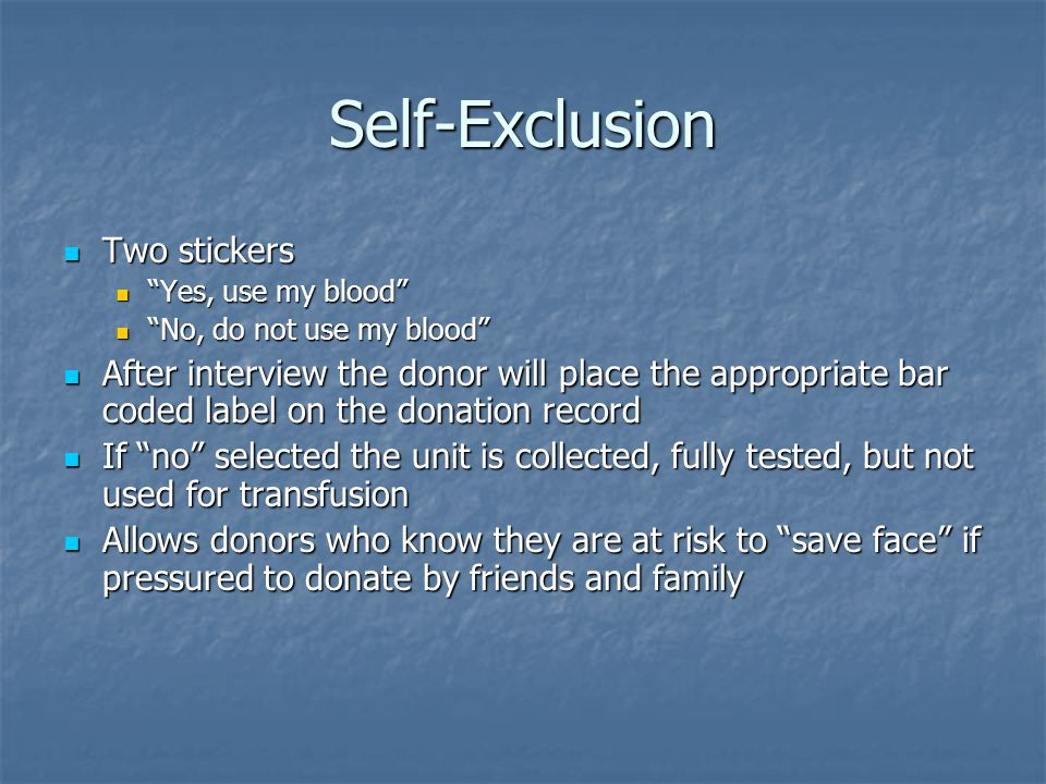 Self-Exclusion Two stickers