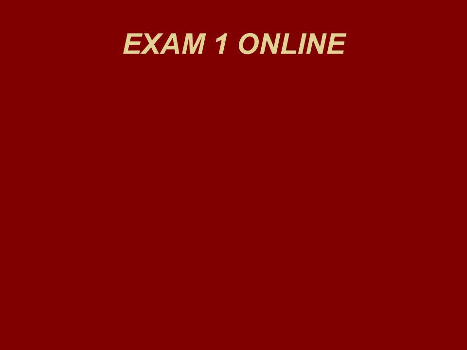 EXAM 1 ONLINE