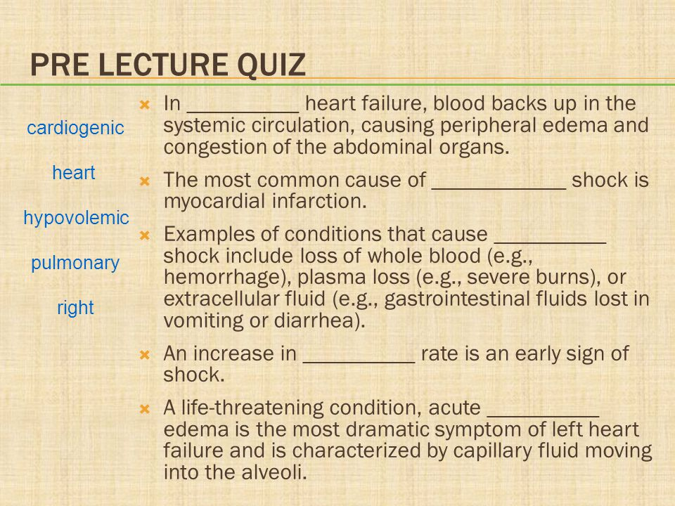 Chapter 20 Heart Failure and Circulatory Shock - ppt video online ...
