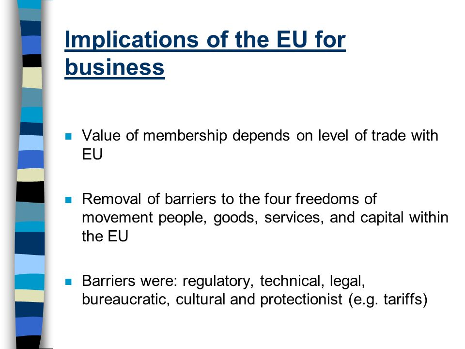 Implications of the EU for business