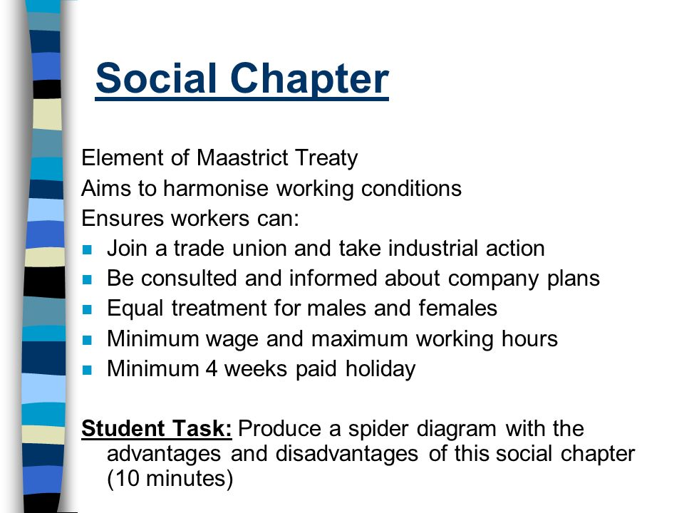 Social Chapter Element of Maastrict Treaty