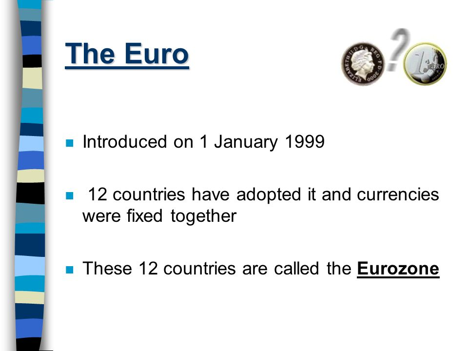 The Euro Introduced on 1 January 1999