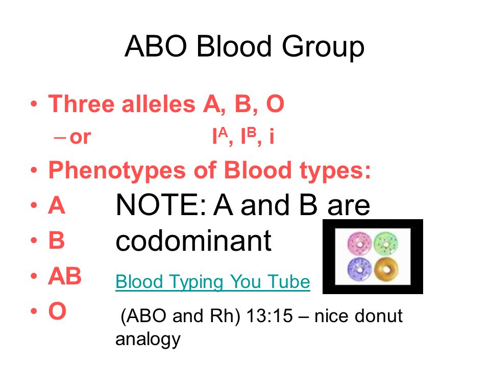NOTE: A and B are codominant
