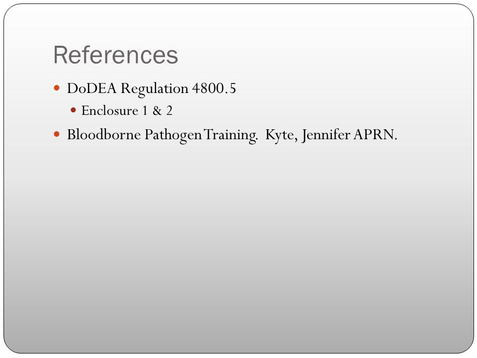 References DoDEA Regulation 4800.5