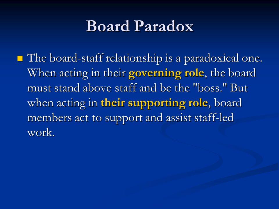 Board Paradox