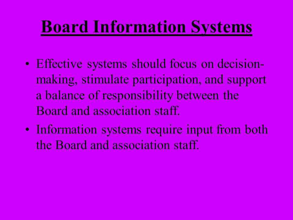 Board Information Systems
