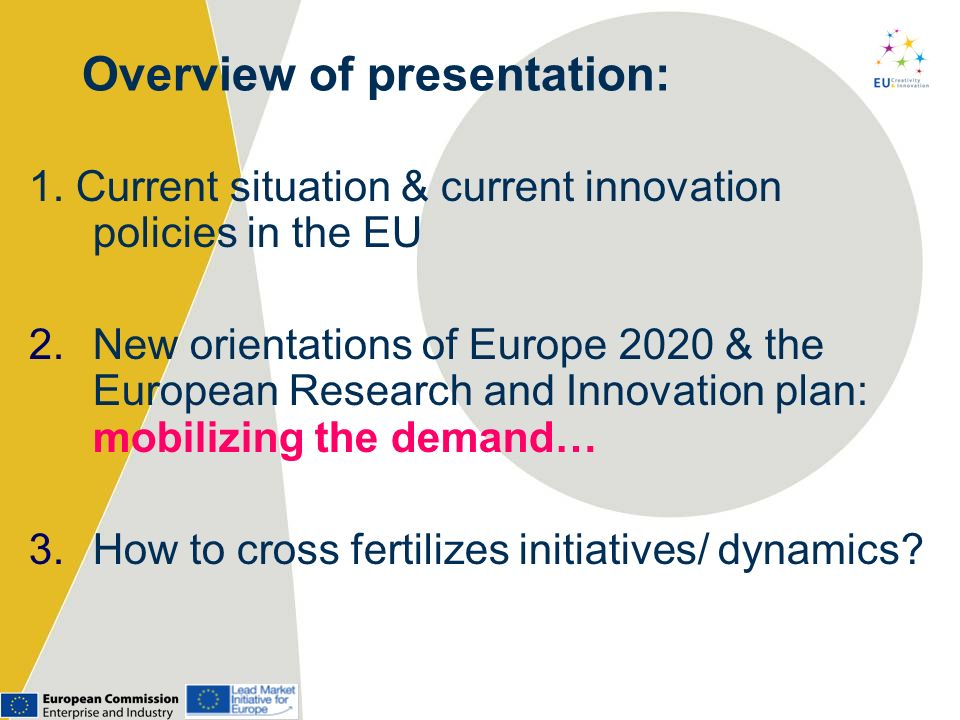 Overview of presentation: