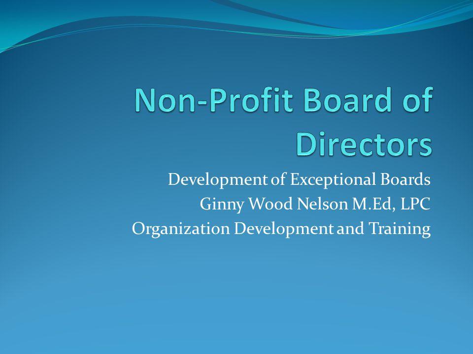 Non-Profit Board of Directors