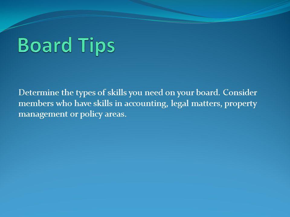 Board Tips