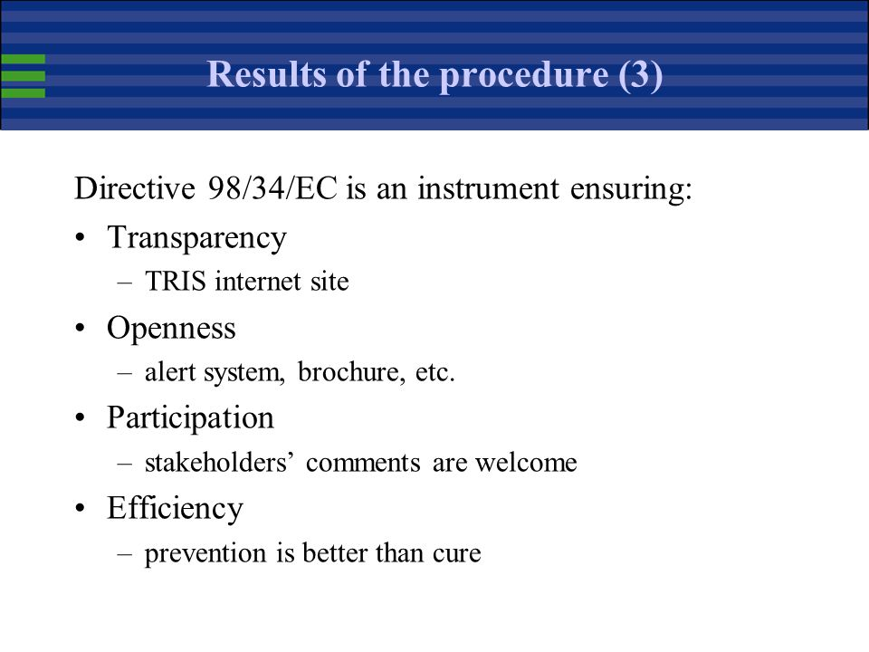 Results of the procedure (3)