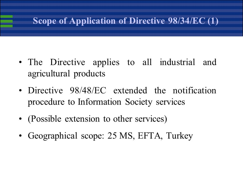 Scope of Application of Directive 98/34/EC (1)