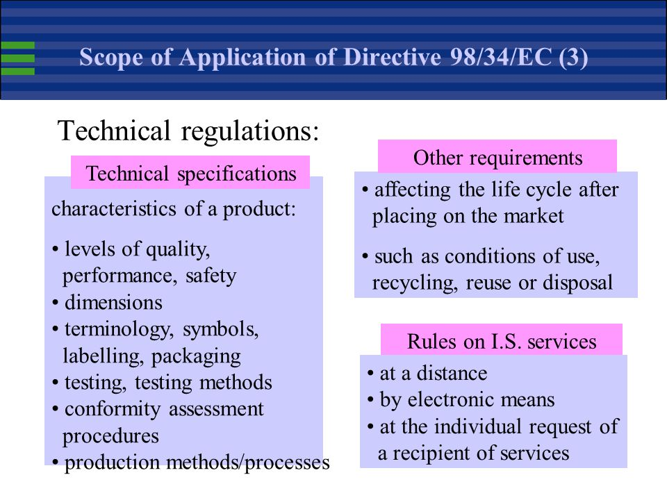 Scope of Application of Directive 98/34/EC (3)