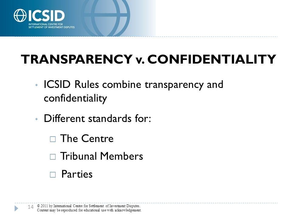 Transparency v. Confidentiality