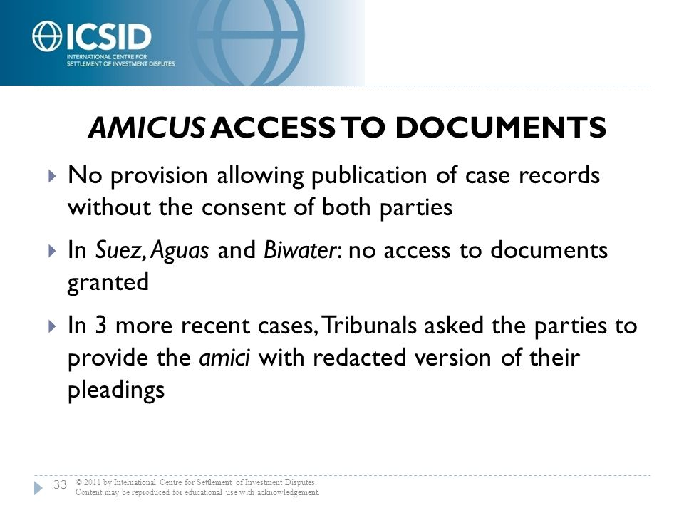 Amicus Access to Documents
