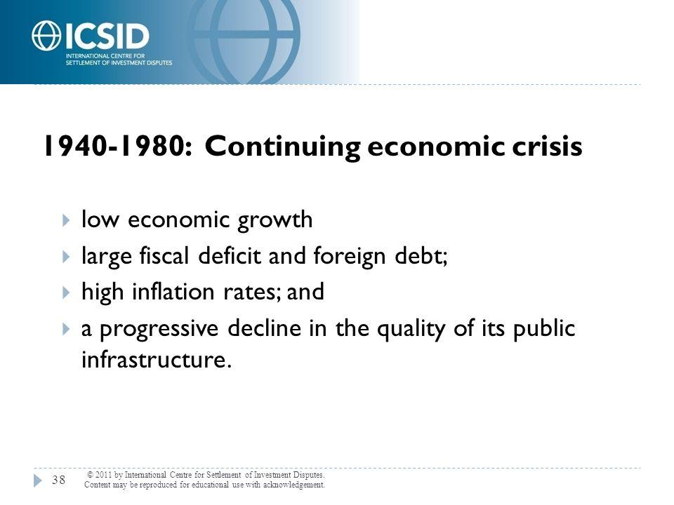 1940-1980: Continuing economic crisis