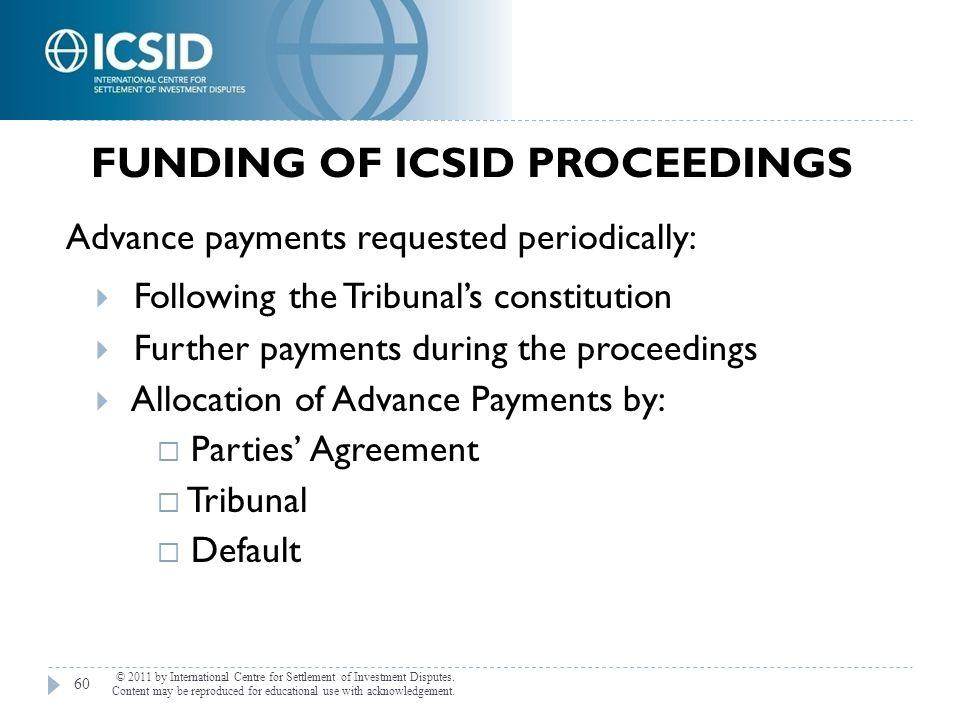 Funding of ICSID Proceedings