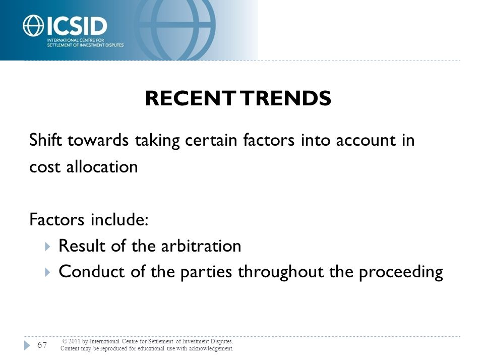 Recent Trends Shift towards taking certain factors into account in