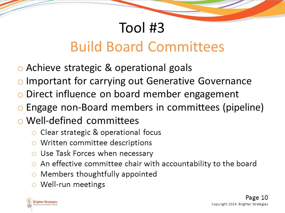 Tool #3 Build Board Committees