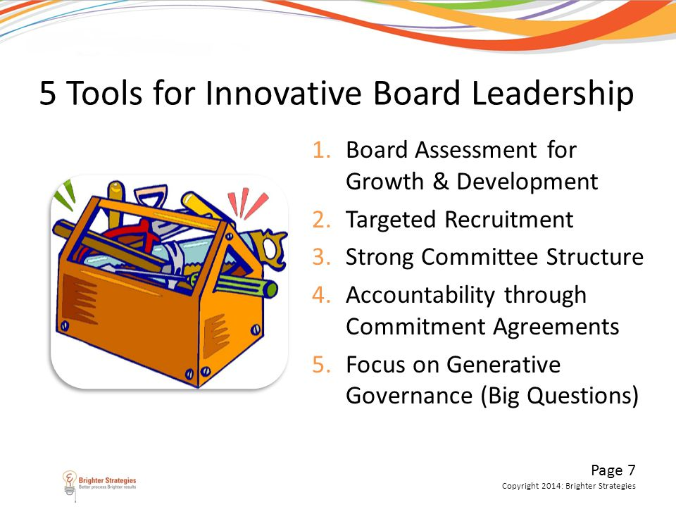5 Tools for Innovative Board Leadership