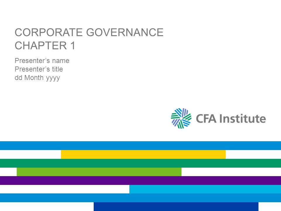 Corporate Governance Chapter 1