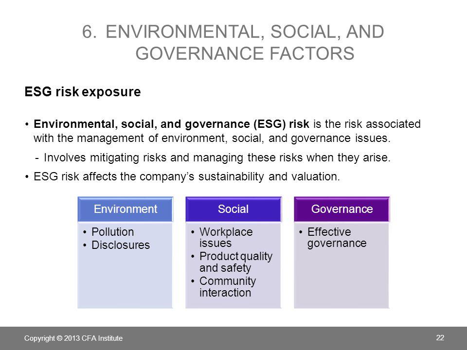 6. Environmental, social, and governance factors