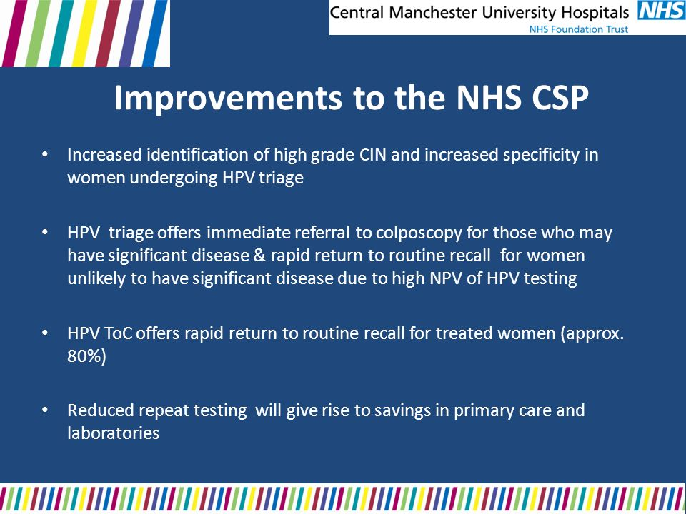 Improvements to the NHS CSP